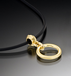 Gold Pendant by Ilene Schwartz