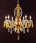 Glass Chandelier by Susan Knecht
