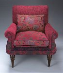 Upholstered Chair & Pillow by Mary Lynn O'Shea