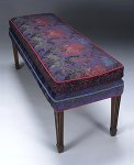 Upholstered Bench by Mary Lynn O'Shea