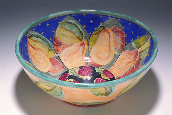 Salad Bowl - Ceramic Bowl - by Peggy Crago