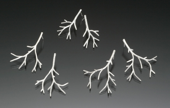 Branch Earrings - Silver Earrings - by Sarah Hood