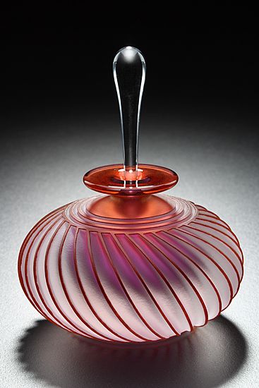 Twist - Art Glass Perfume Bottle - by Mary Angus