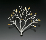 Silver & Gold Brooch by Sarah Hood