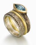 Silver, Gold & Stone Rings by Susan Barth