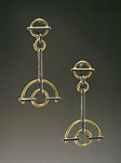 Silver & Gold Earrings by Ben Neubauer