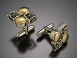Silver & Gold Cuff Links by Danielle L. Miller