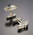 Silver & Stone Cuff Links by Danielle L. Miller