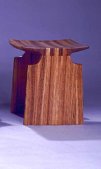 Renwick Stool - Wood Bench - by David N. Ebner