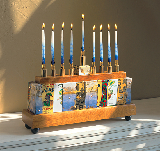Menorah - Mixed-Media Menorah - by Jenna Goldberg