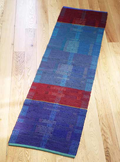 Plum Island - Cotton Rug - by Claudia Mills