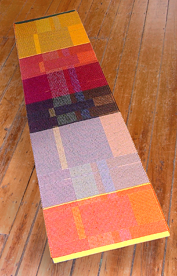 Afterglow Runner - Cotton Rug - by Claudia Mills