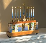 Mixed-Media Menorah by Jenna Goldberg