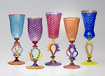 Art Glass Goblets by Robert Dane