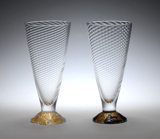 Wine Cups - Art Glass Wine Cups - by Tom Stoenner