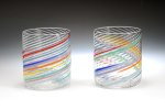 Two Art Glass Tumblers by Tom Stoenner