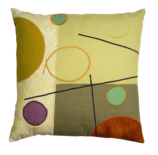 Burnt Orange Dot - Pillow - by Susan Hill