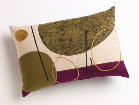 Plum Lines - Pillow - by Susan Hill