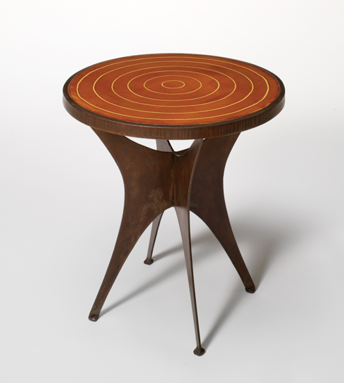 Circle End Table - Concrete & Steel End Table - by Michael McClatchy