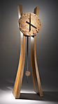 Wood Floor Clock by Brian Hubel