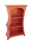 Wood Bookcase by Vincent Leman