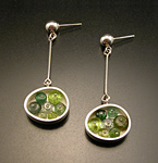Silver & Stone Earrings by Ashka Dymel
