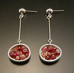 Silver & Bead Earrings by Ashka Dymel