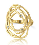 Gold & Stone Ring by Dana Melnick