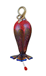 Art Glass Hummingbird Feeder by Corey Silverman