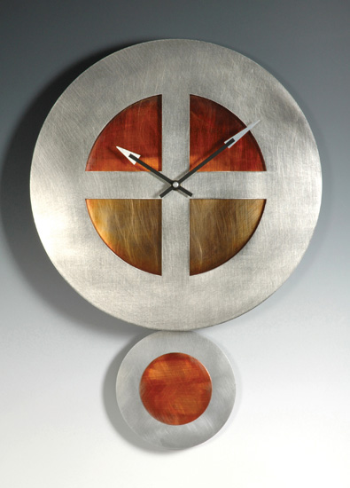 On Target Pendulum Clock - Metal Clock - by Leonie Lacouette