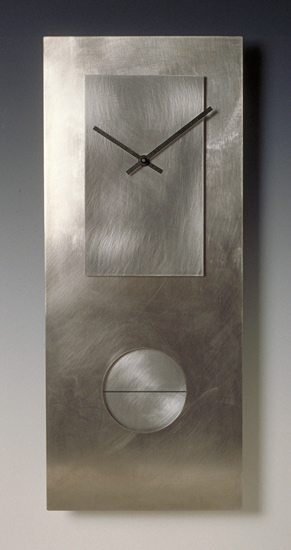 Steel on Steel 24 Pendulum Clock - Metal Clock - by Leonie Lacouette