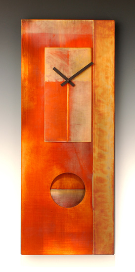 All-Copper Pendulum Clock - Metal & Wood Clock - by Leonie Lacouette
