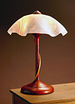 Wood Table Lamp by Clark Renfort