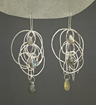 Silver & Stone Earrings by Heather Guidero