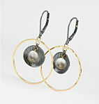 Gold, Silver, & Stone Earrings by Anna Whitmore