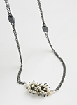 Silver, Stone & Pearl Necklace by Anna Whitmore
