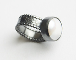 Silver & Pearl Ring by Anna Whitmore