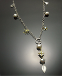 Gold, Silver, & Stone Necklace by Susan Chin