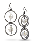 Silver & Pearl Earrings by Rina S. Young