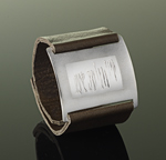 Silver & Leather Bracelet by Karen Klinefelter
