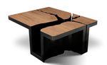 Wood Coffee Table by Dylan Gold