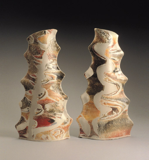 Stick Vase Pair - Ceramic Vases - by Kaete Brittin Shaw
