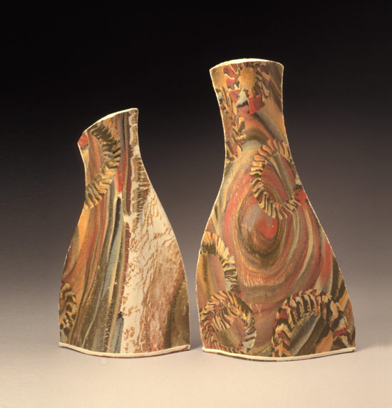 Painted Vases - Ceramic Vases - by Kaete Brittin Shaw