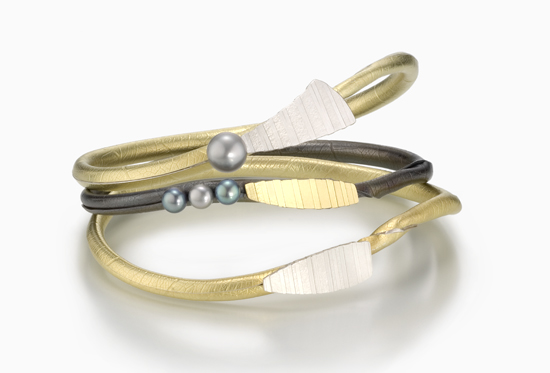 earl Twig Bangle - Silver & Bimetal Bracelets - by Christine MacKellar