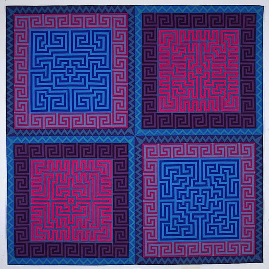 Labyrinth #8 - Art Quilt - by Ellen Oppenheimer