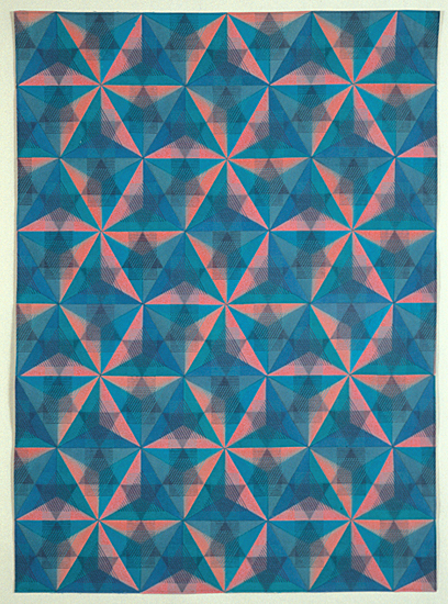 Hoshi Chiyogami - Art Quilt - by Ellen Oppenheimer