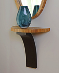 Wood Demilune Shelf by Richard Judd