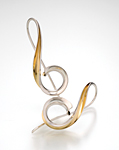 Silver & Bimetal Earrings by Nancy Linkin