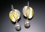 Silver & Gold Earrings by Christine MacKellar