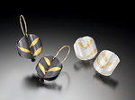 Gold & Silver Earrings by Christine MacKellar